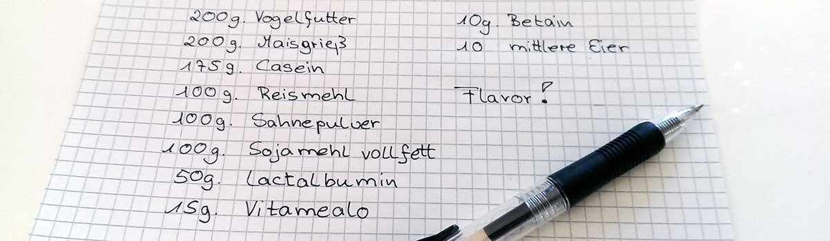 Boilies selber machen Rezept