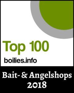 Top 100 2018 Bait und Angelshop Siegel