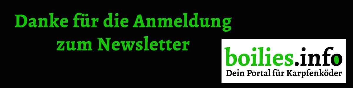 Newsletter Anmeldung Danke